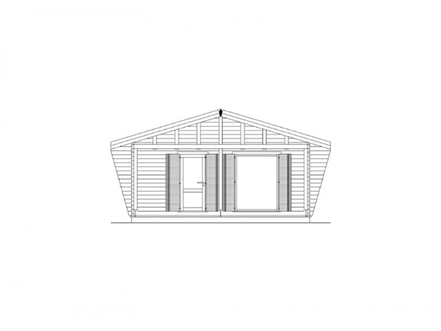 Blockhaus Bestensee - Außenansicht 2