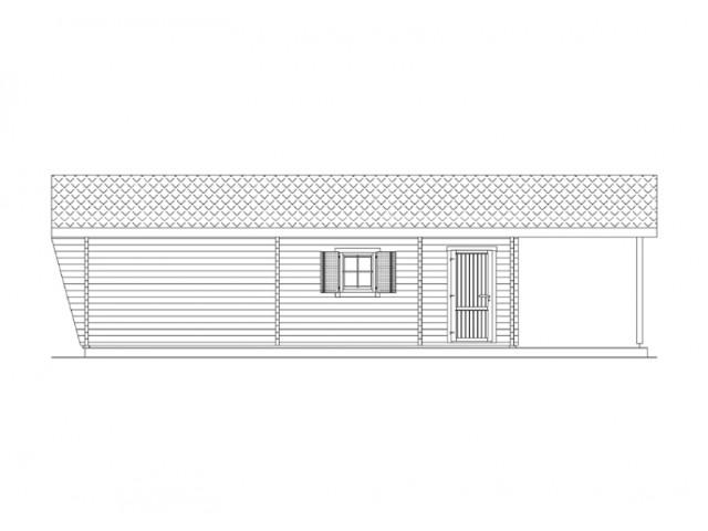 Blockhaus Bestensee - Außenansicht 3