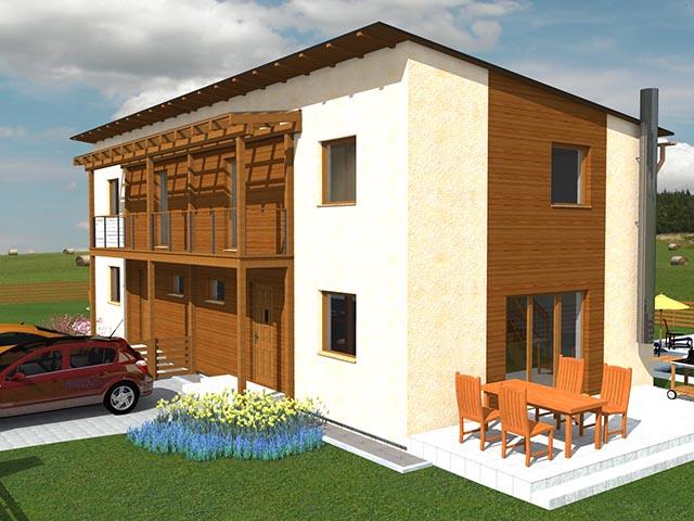 Holz Doppelhaus in Fertigbauweise