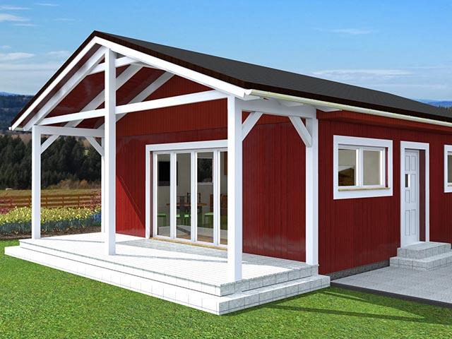 Holz Ferienhaus in Fertigbauweise