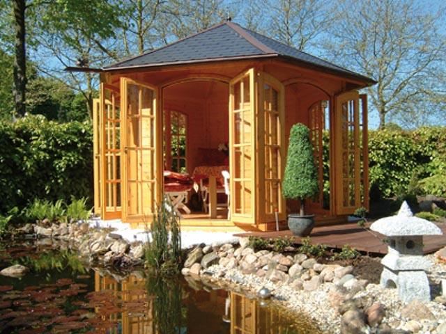 Holz Pavillon in Fertigbauweise