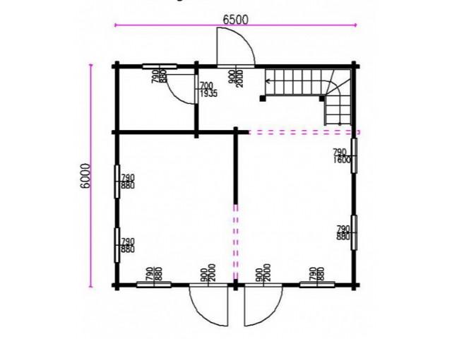 Blockhaus Dresden - Grundriss EG