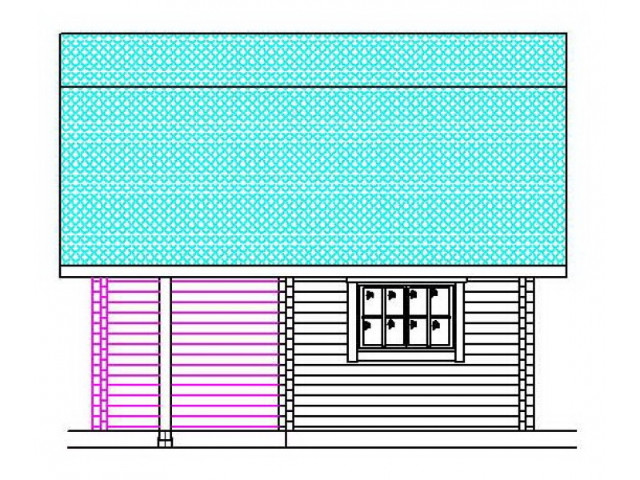 Blockhaus Erlenau - Außenansicht 2