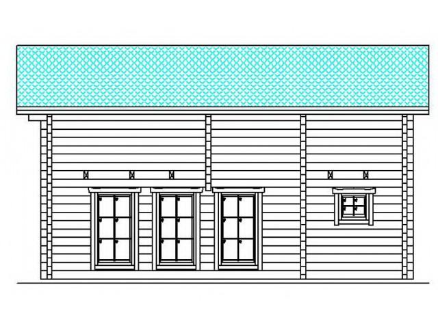 Blockhaus Kerpen - Außenansicht 3