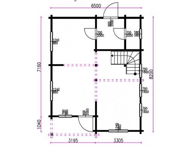 Blockhaus Kerpen - Grundriss EG