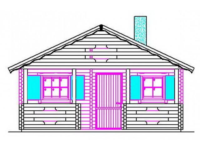Blockhaus Meißen - Außenansicht 2