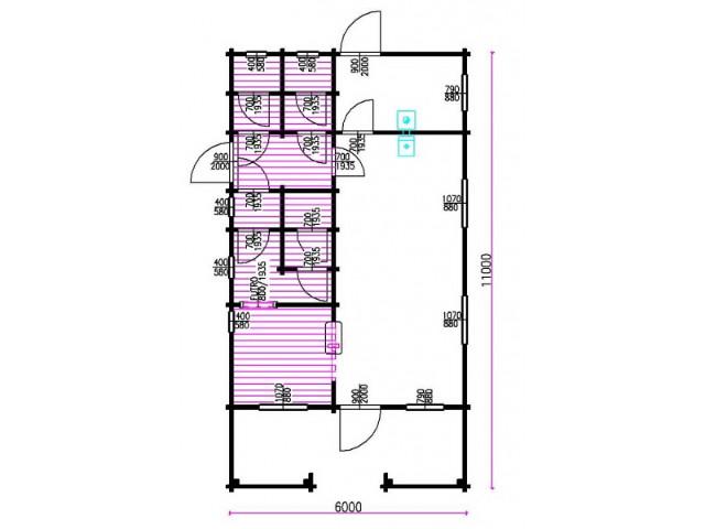 Blockhaus Meißen - Grundriss
