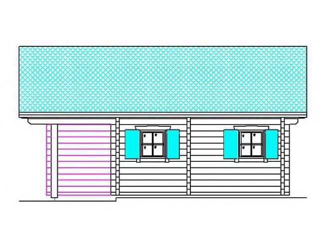 Blockhaus Prenzlau - Außenansicht 3