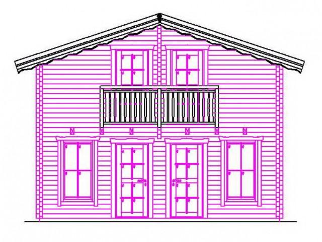 Blockhaus Prieros - Außenansicht 2
