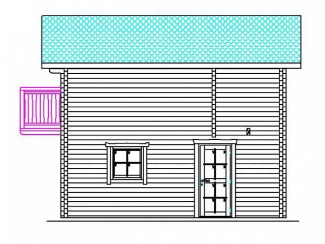 Blockhaus Prieros - Außenansicht 3