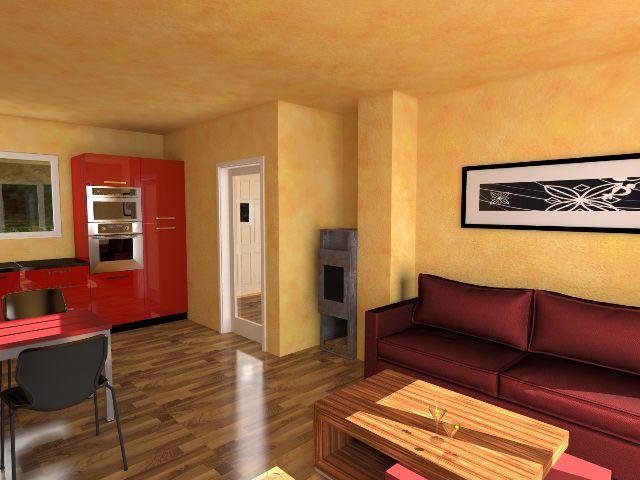 Bungalow 02 - Offener Wohnbereich