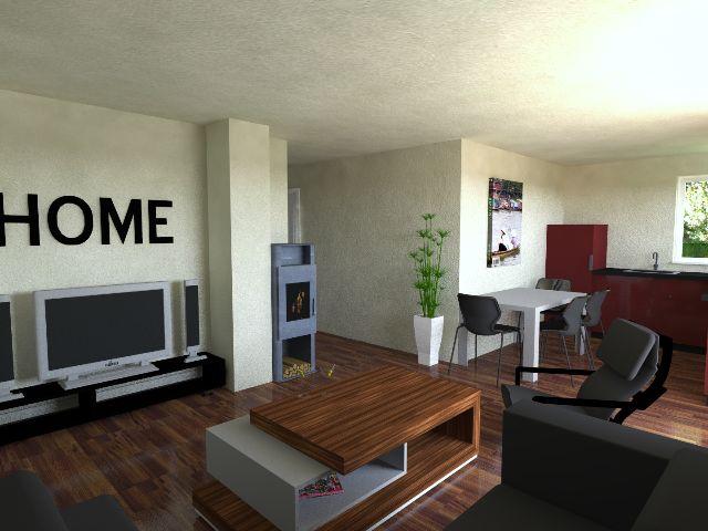 Bungalow 04 - Offener Wohnbereich mit Küche