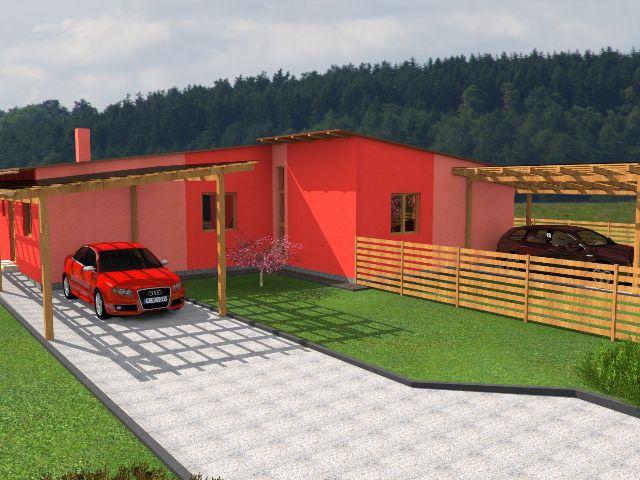Doppelhaus 01 - Hauseingang mit Carport