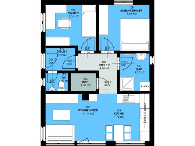 Doppelhaus 01 - Grundriss