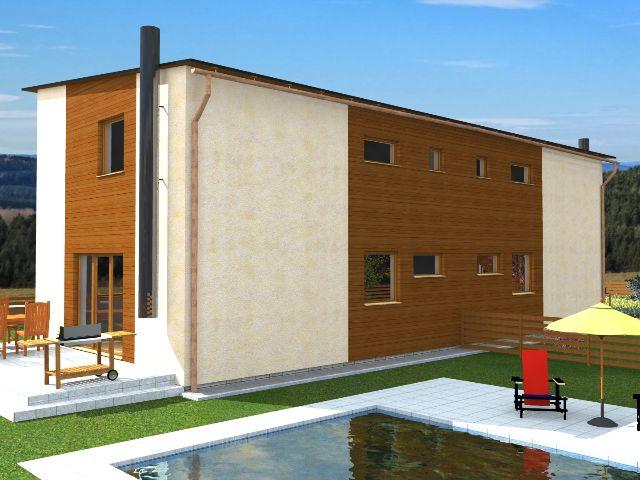 Doppelhaus 02 - Gartenansicht