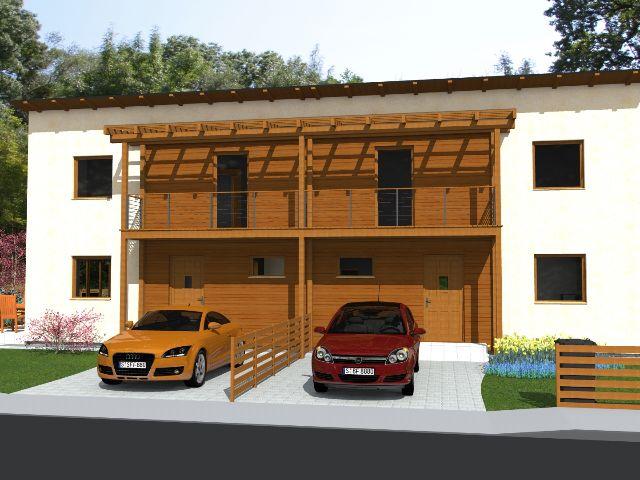 Doppelhaus 02 - Hauseingang mit Einfahrt