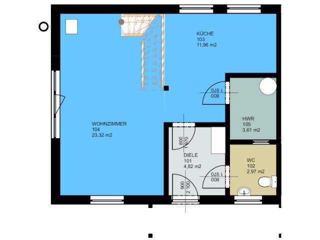 Doppelhaus 02 - Grundriss EG