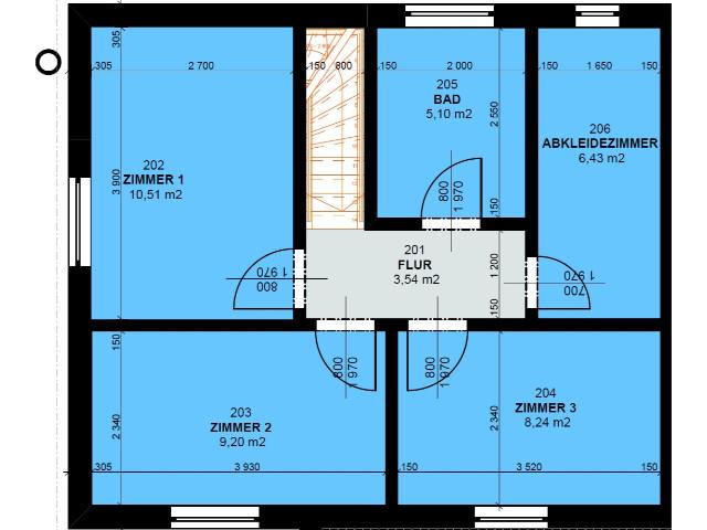 Doppelhaus 02 - Grundriss OG