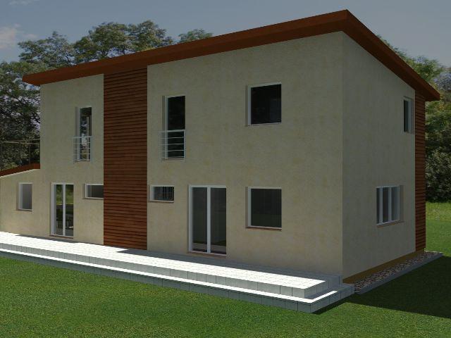 Doppelhaus 03 - Gartenansicht