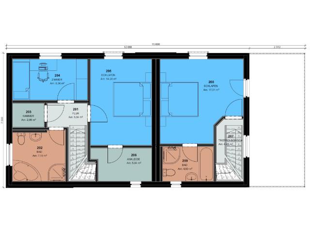Doppelhaus 03 - Grundriss OG