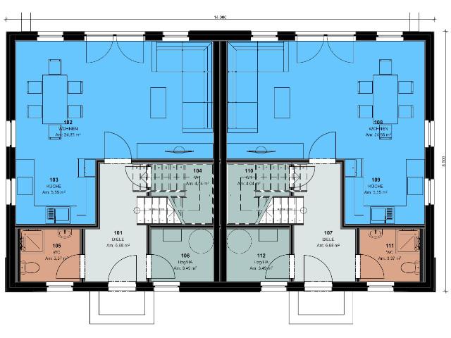 Doppelhaus 04 - Grundriss EG