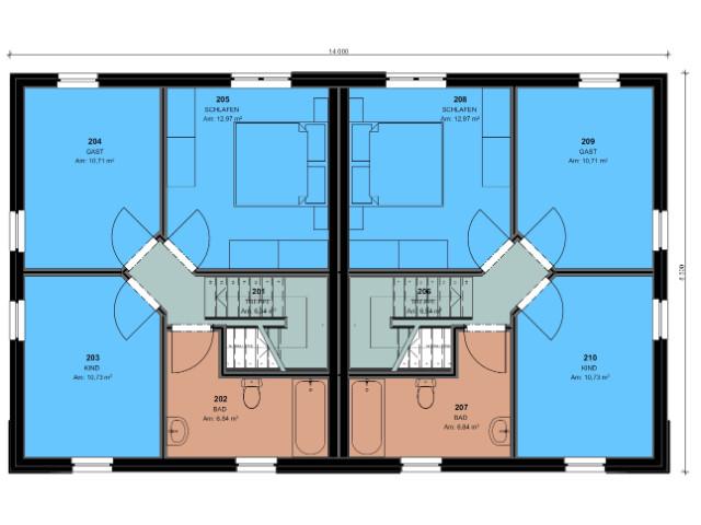 Doppelhaus 04 - Grundriss OG