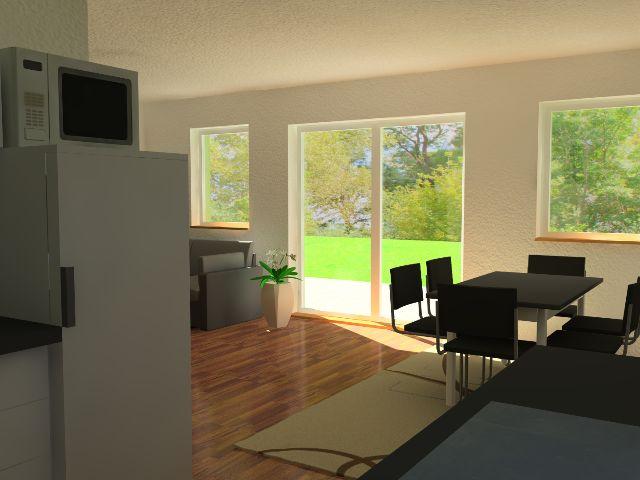 Doppelhaus 04 - Blickwinkel aus offener Küche