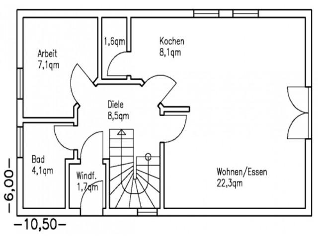 Einfamilienhaus Bella 10 - Grundriss EG
