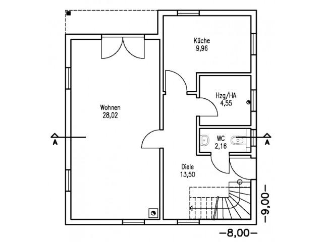 Einfamilienhaus Bella 11 - Grundriss