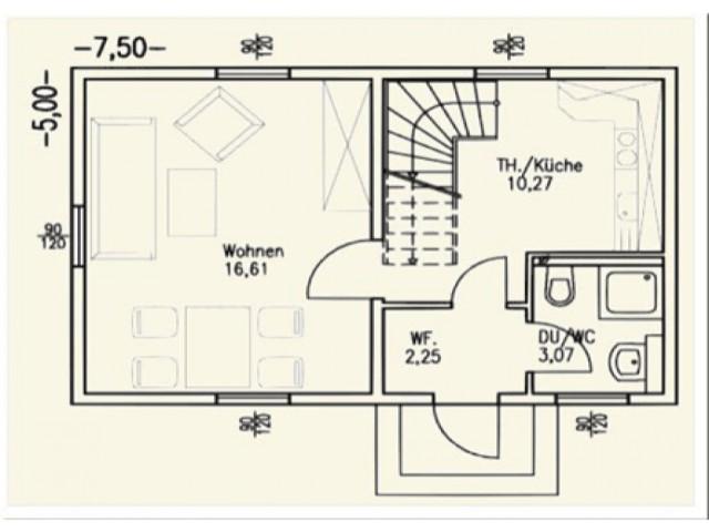 Einfamilienhaus Bella 02 - Grundriss EG