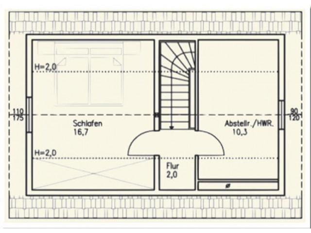 Einfamilienhaus Bella 02 - Grundriss OG