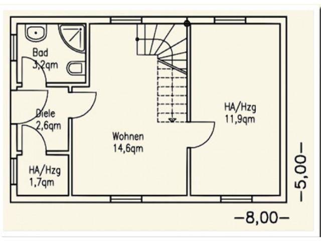 Einfamilienhaus Bella 03 - Grundriss EG