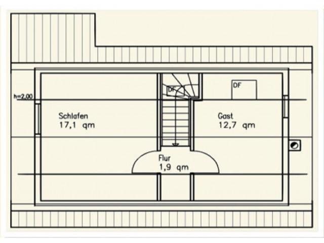 Einfamilienhaus Bella 04 - Grundriss OG