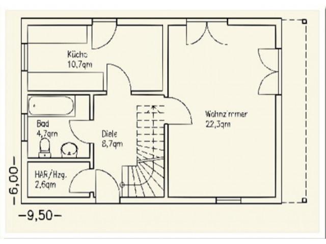 Einfamilienhaus Bella 07 - Grundriss EG