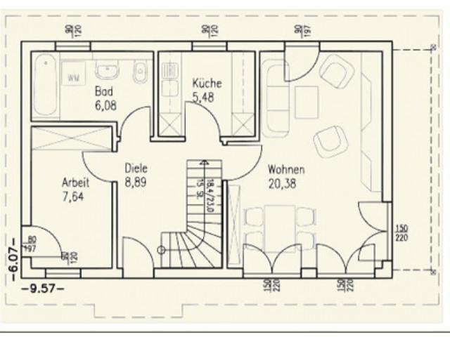 Einfamilienhaus Bella 09 - Grundriss EG