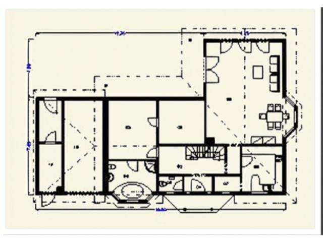 Einfamilienhaus Bellevue - Grundriss EG