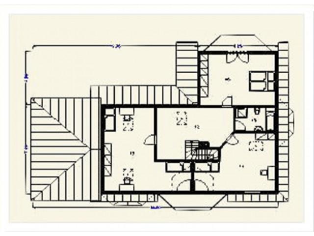 Einfamilienhaus Bellevue - Grundriss DG