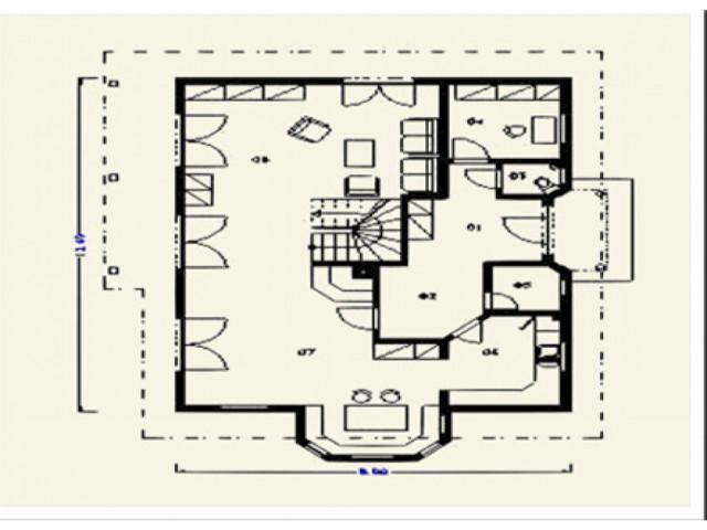 Einfamilienhaus Fortuna - Grundriss EG