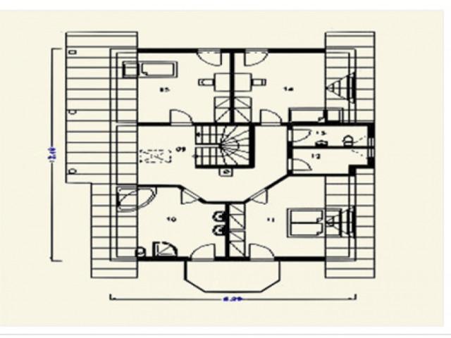 Einfamilienhaus Fortuna - Grundriss DG