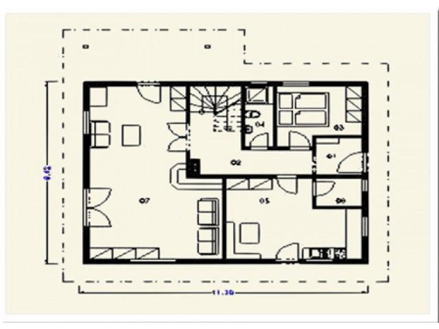 Einfamilienhaus Freiburg - Grundriss EG