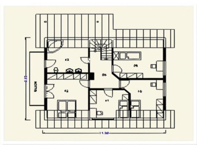 Einfamilienhaus Freiburg - Grundriss DG