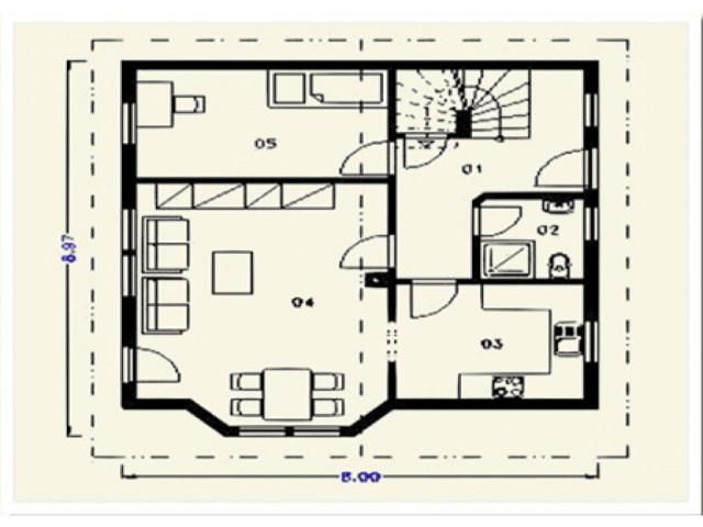 Einfamilienhaus Harmonie - Grundriss EG