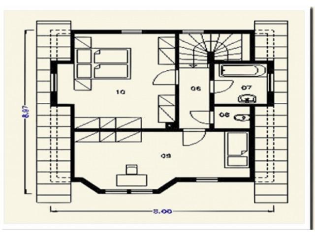 Einfamilienhaus Harmonie - Grundriss DG