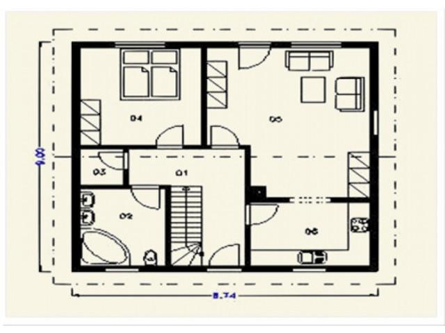 Einfamilienhaus Iris - Grundriss EG