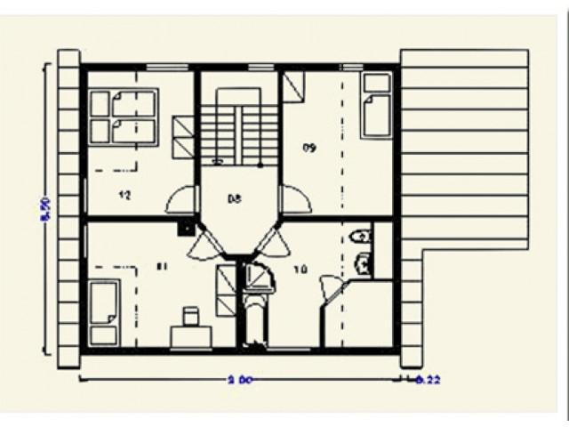 Einfamilienhaus Krone - Grundriss DG