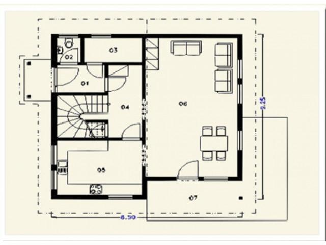 Einfamilienhaus Lilie - Grundriss