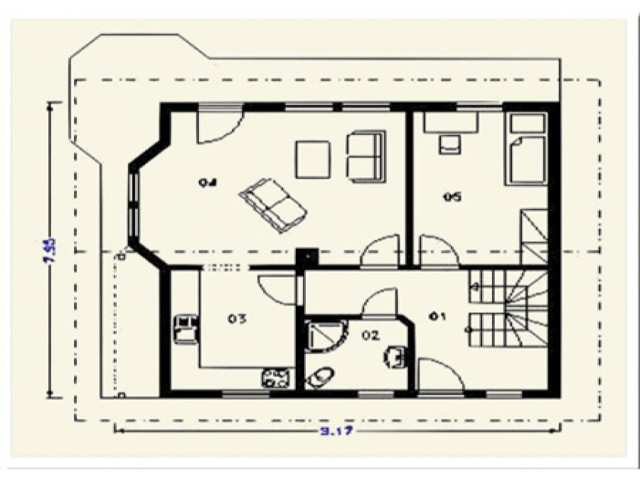 Einfamilienhaus Lindenberg - Grundriss EG
