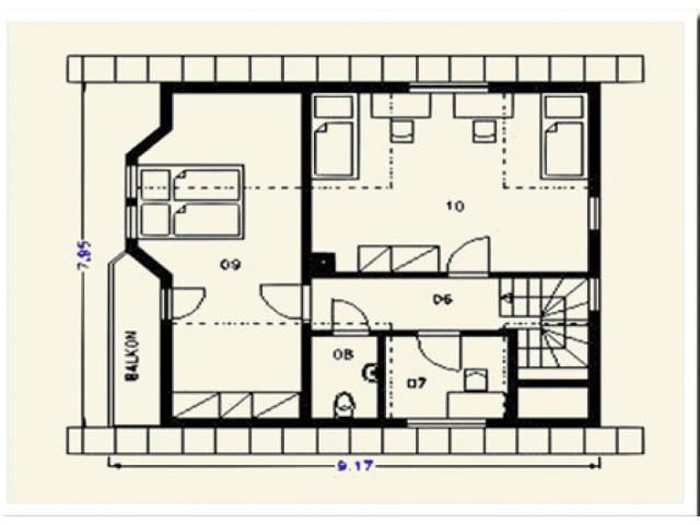 Einfamilienhaus Lindenberg - Grundriss DG