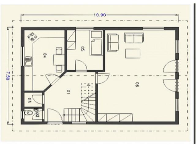 Einfamilienhaus Rheinburg - Grundriss EG