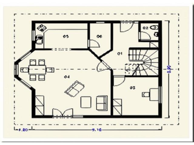 Einfamilienhaus Rheineck - Grundriss EG